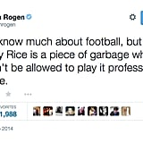 Seth Rogen Shamed the NFL For the Way They Handled Ray Rice