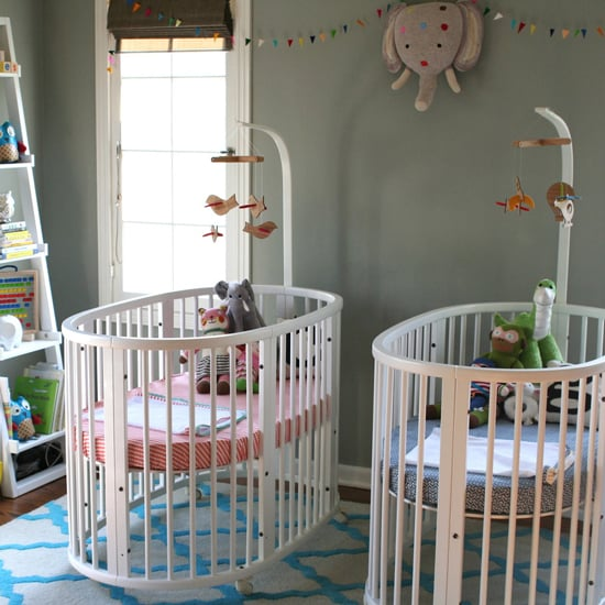 The Hallam Family Baby Room Ideas: Unisex Twins Nursery Decor Inspiration