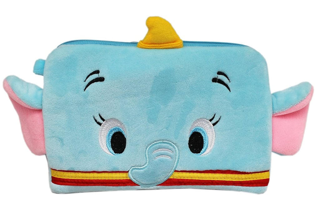 Disney's Dumbo Light Blue Colored Zipper Top Cosmetic Bag