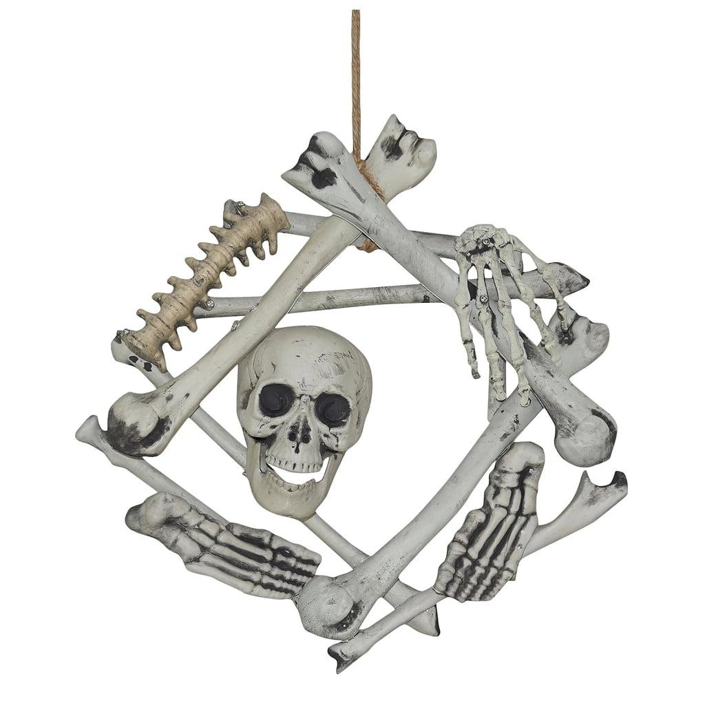 Halloween Skull & Bones Wreath