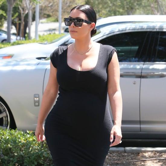 Kim Kardashian Pregnant Black Dress