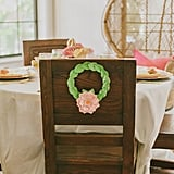 The wreath design extended to the chair backs.
