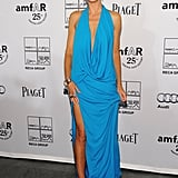 Heidi Klum in an Aqua Michael Kors at the 2011 amfAR Gala