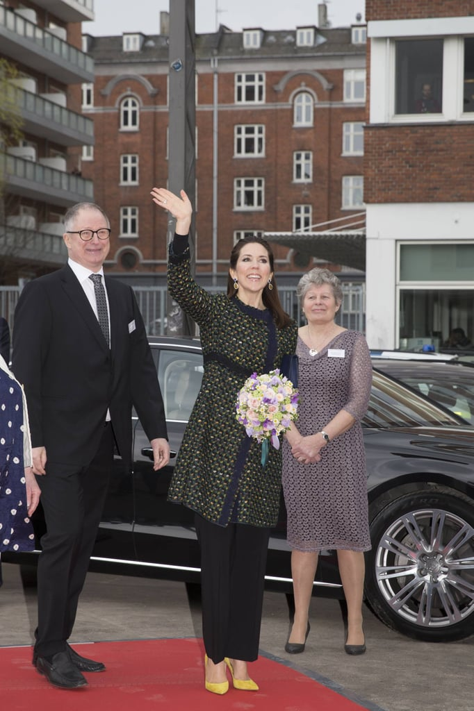Princess Mary Added a Pop of Color to Her Look With Some Yellow Pumps