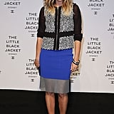 Pip Edwards at the Little Black Jacket Exhibition launch in 2012