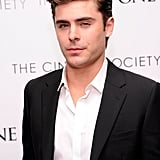 Zac Efron wore a blazer to the Cinema Society and Men's Health screening of The Lucky One in NYC.