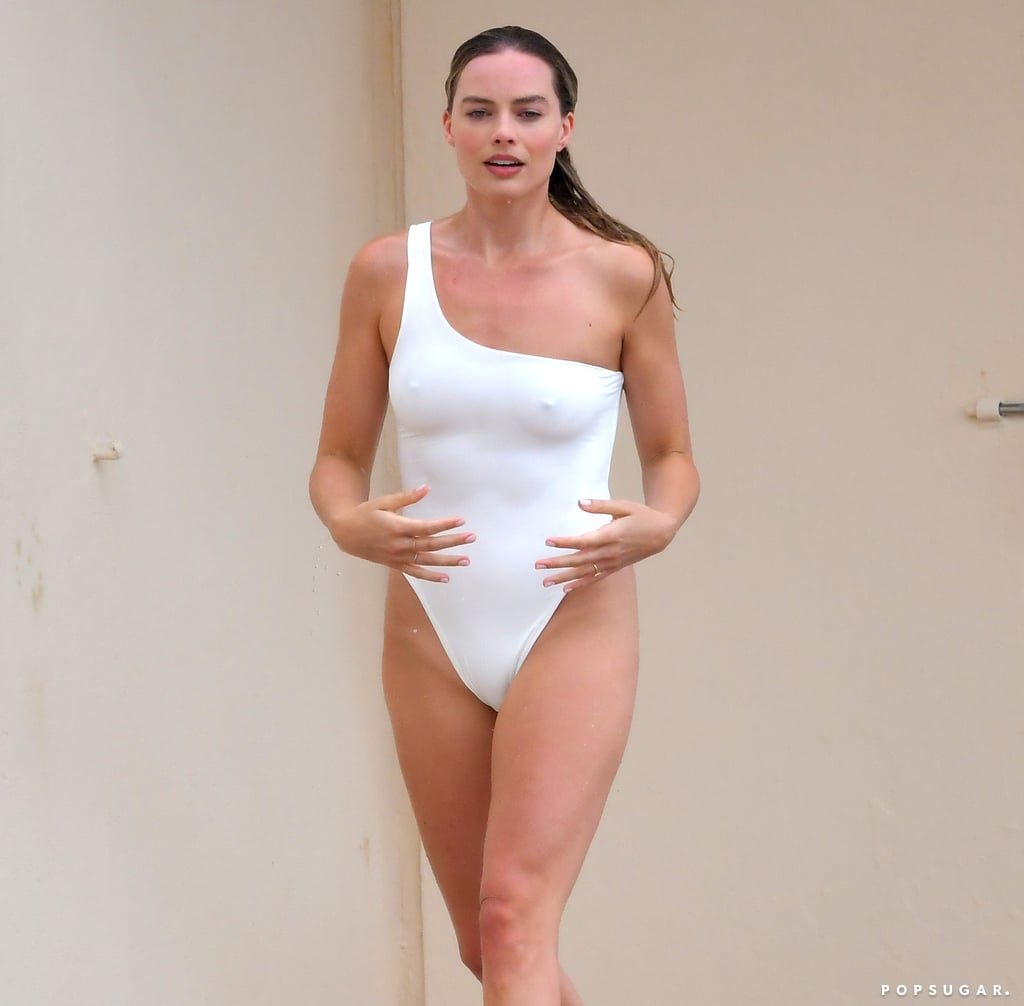 No One Has as Much Finesse as Margot Robbie in This Sexy White Swimsuit
