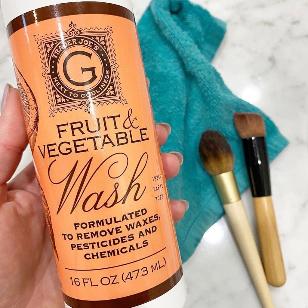 Trader Joe's Fruit and Vegetable Wash Cleans Makeup Brushes