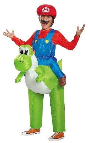 Super Mario Nintendo Kids' Mario Riding Yoshi Inflatable Costume