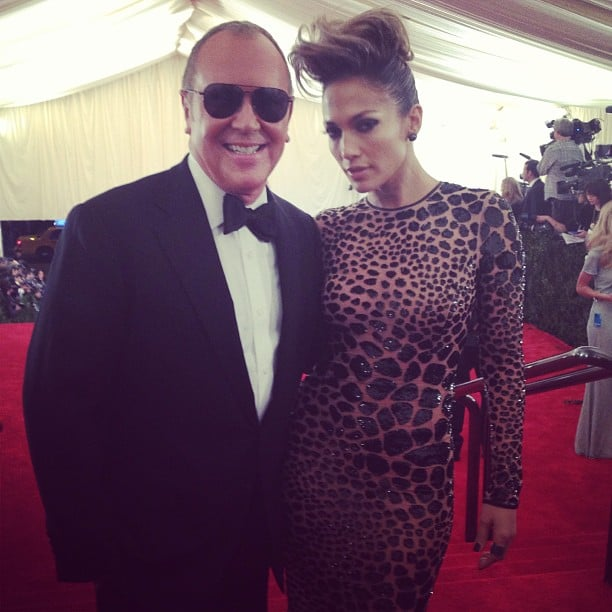 Michael Kors hit the red carpet with his date, the beautiful Jennifer Lopez. Source: Instagram user voguemagazine