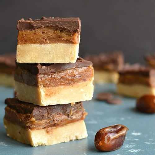 Millionaire Bars With Coconut Flour Shortbread