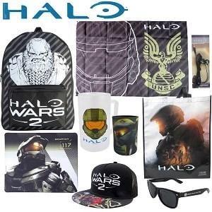 Halo Showbag ($26) Includes:  Backpack  Drink cooler  Headphones