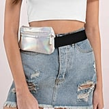 Tobi Mytagalongs Holographic Silver Fanny Pack