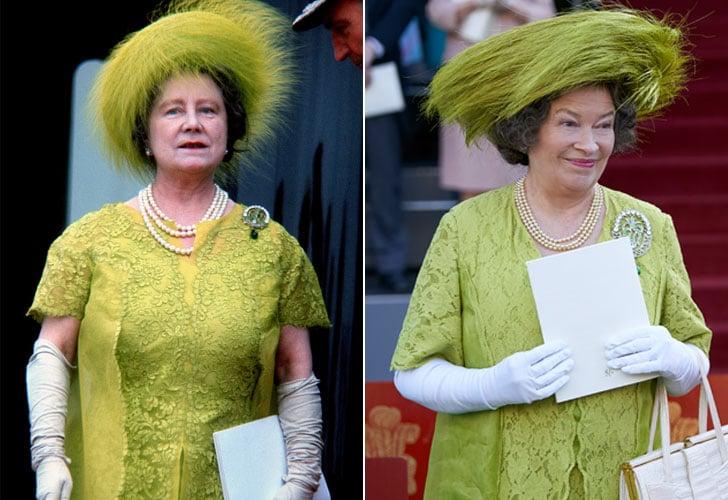 Queen Elizabeth the Queen Mother and Marion Bailey