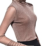 Shimmer Turtleneck Top
