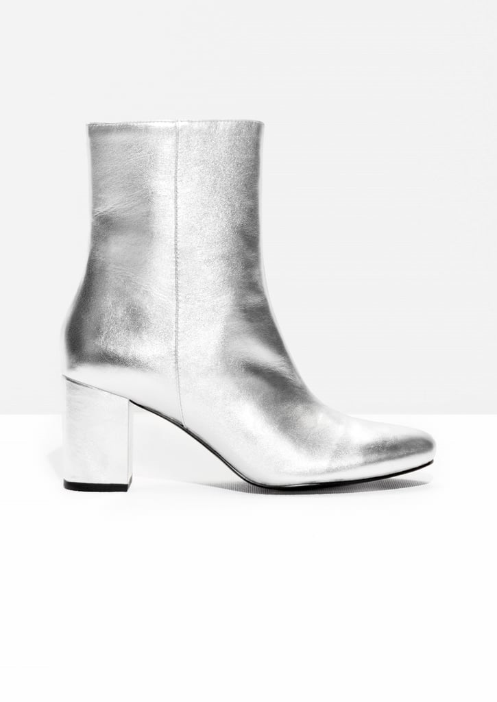 & Other Stories Metallic Leather Boots (£63, originally £125)
