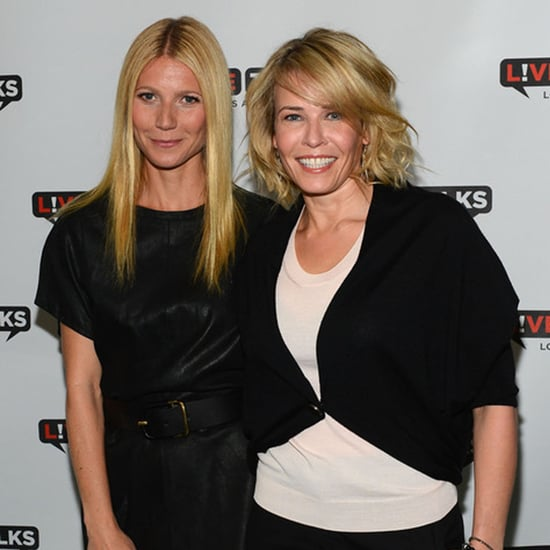 Chelsea Handler with Gwyneth Paltrow and Piers Morgan