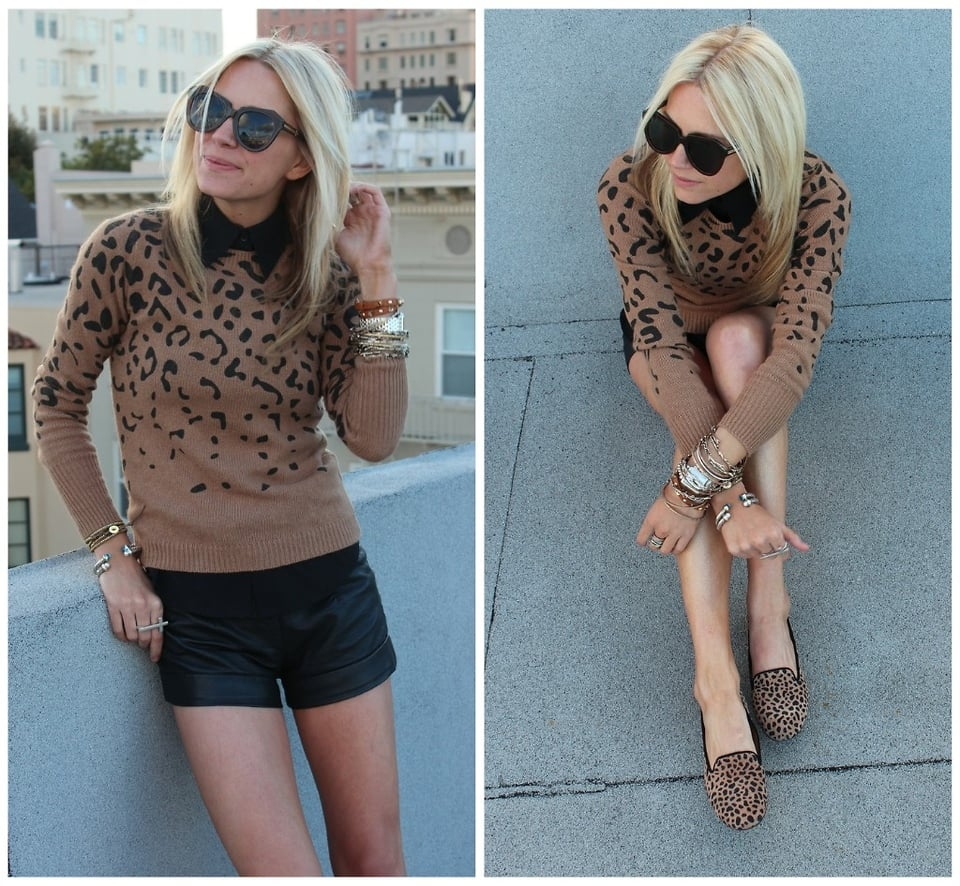 Sometimes being matchy-matchy is a good thing when done right. Look to this fashionista for pointers on pairing leopard prints together. The key is to style similar patterns that offset each other with their subtle shape differences.  Photo courtesy of Lookbook.nu