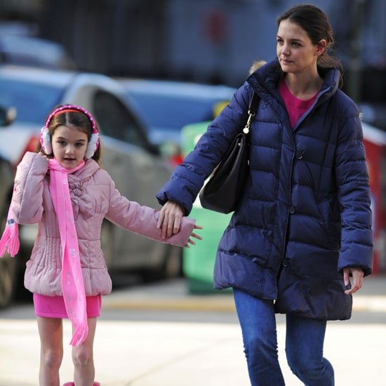 Suri Cruise in Pink With Katie Holmes Before Christmas