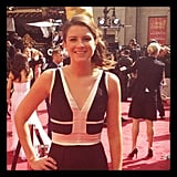Pop editor Molly wore a Rent the Runway dress on the Oscars red carpet.