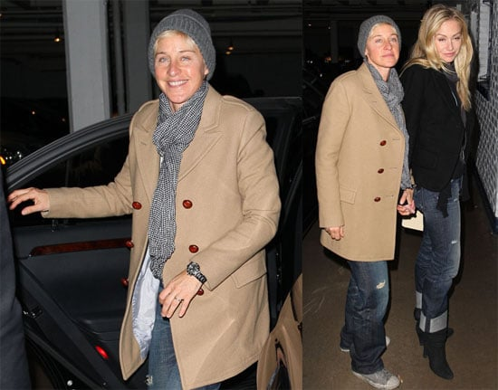 Photos of Ellen DeGeneres and Portia de Rossi Celebrating Ellen's Birthday at the Chateau Marmont