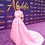 Naomi Scott's Pink Brandon Maxwell Dress at Aladdin Premiere