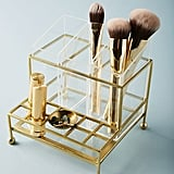 The Anthropologie Faceted Vanity Organiser ($US48) is a shelfie-worthy storage holder that can display your favourite serums and tools.