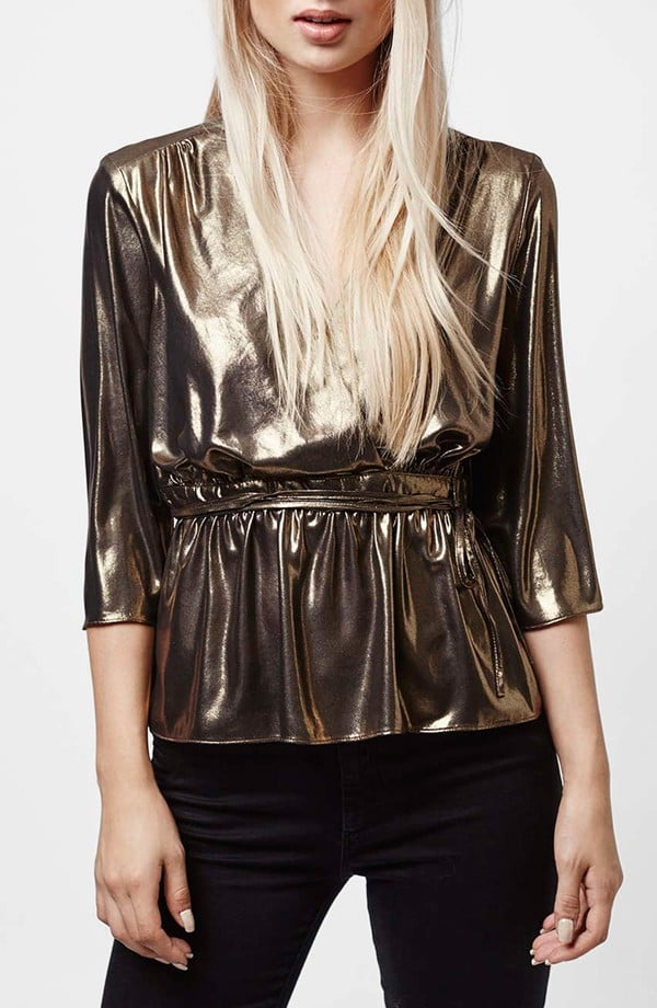 Topshop Metallic Top ($70)