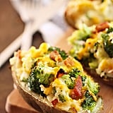 Twice-Stuffed Potatoes Stuffed With Bacon, Broccoli, and Cheddar