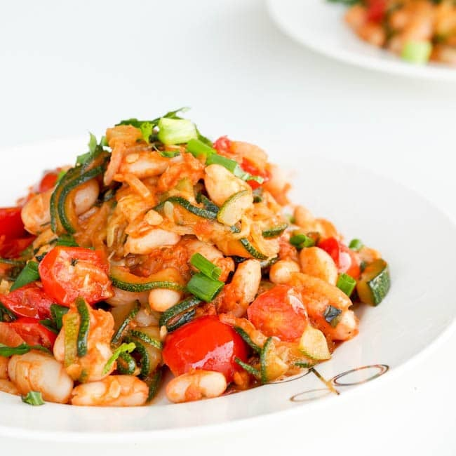 Zucchini Ratatouille With Sun-Dried Tomatoes and White Beans