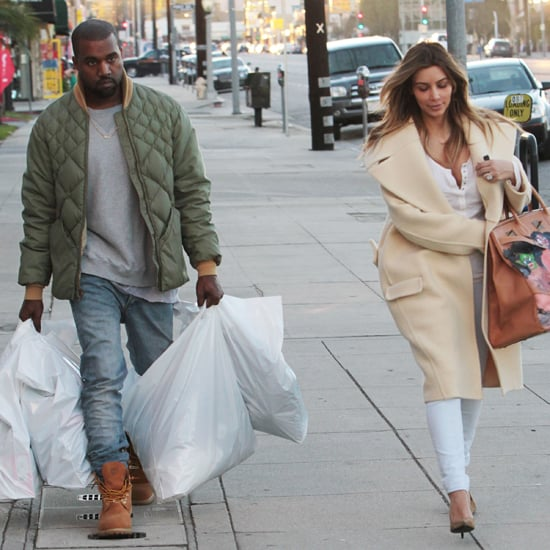 Kanye West And Kim Kardashian Shopping; Kim's New Birkin Bag