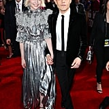 Lucy Boynton and Rami Malek at the 2020 Golden Globes
