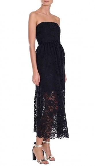 Tibi Lace Strapless Dress