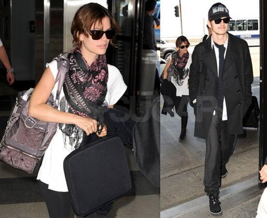 Photos of Rachel Bilson and Hayden Christensen at LAX