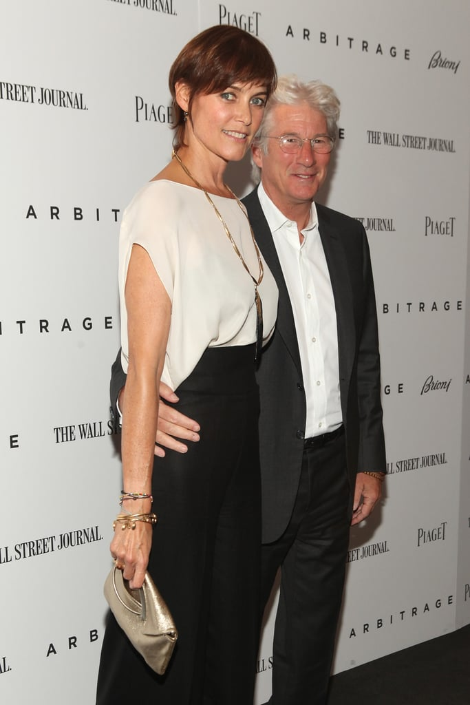Richard Gere posed with wife Carey Lowell for the Arbitrage premiere in NYC.