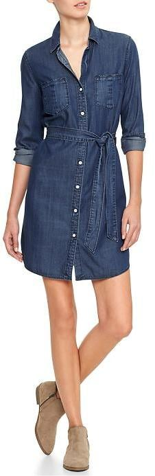Gap Factory Denim Shirt Dress