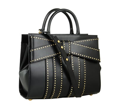 There are so many things we love about this Z Spoke by Zac Posen studded bow bag ($675): the subtle studs, the expansive bow, structured body, and adorable handles.
