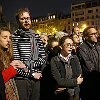 "Crowds Sing ""Ave Maria"" Outside Notre-Dame Cathedral"