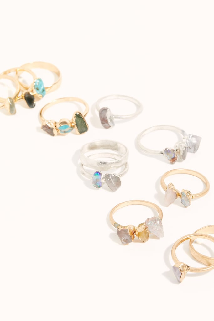 Raw Stone Ring Set