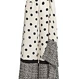 Oscar de la Renta Tie-Waist Polka-Dot Print Wide-Leg Trousers