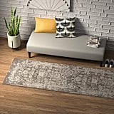 Rivet Charcoal Distressed Medallion Area Rug