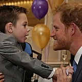 In October 2016, the prince showed off his playful side as he met with a little boy named Ollie, who was honored at the WellChild Awards in London and was diagnosed with Battens disease, a rare genetic condition, at the age of two.