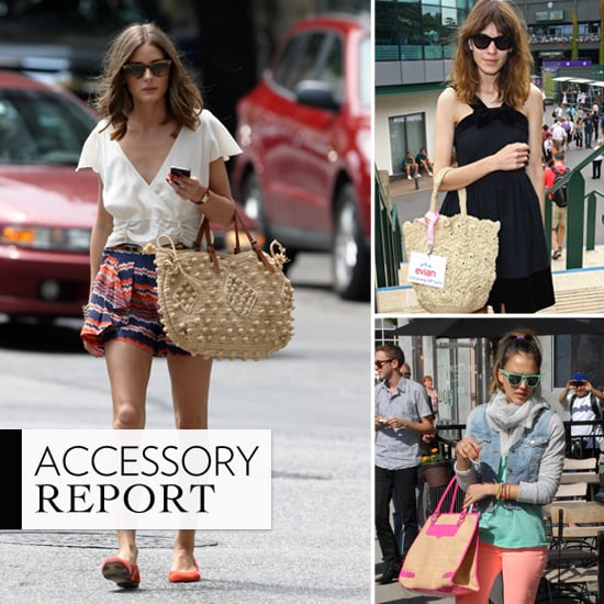 Olivia Palermo, Alexa Chung and Jessica Alba Replace Leather Bags With Straw and Crochet