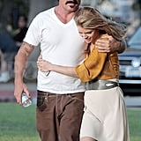AnnaLynne McCord and Dominic Purcell hugging.