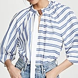 Tibi Tie Neck 3/4 Sleeve Top