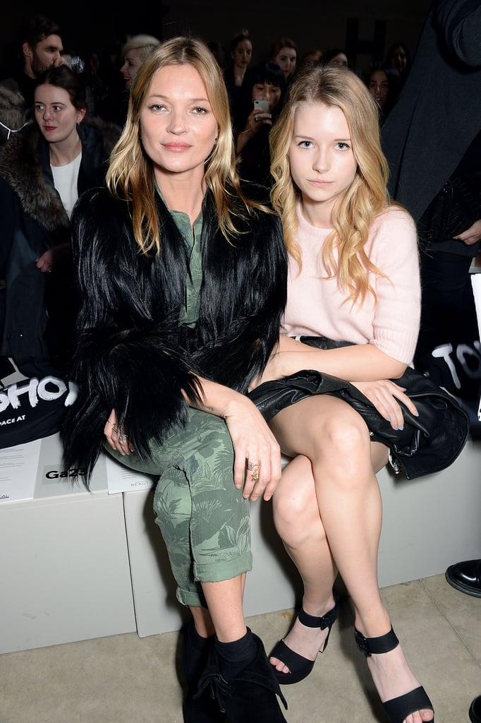 Kate and Lottie Moss Sat Front Row at a Fashion Show