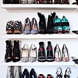 Fancy feet Fashion week is the Mecca of weird and wonderful shoes - this is the time to give your most special pairs some attention. Practical and stunning do not always go hand in hand so carry a spare pair with you if needed!