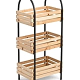 Wood and Metal Storage Table