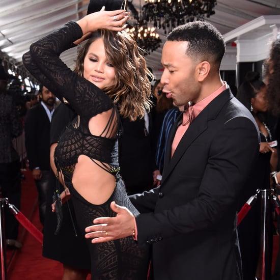 Chrissy Teigen Dancing With John Legend at the 2017 Grammys