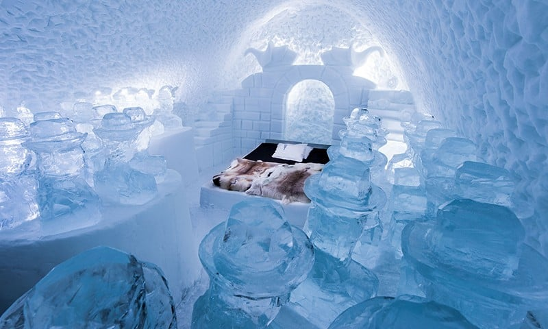 Spend the Night in an Ice Hotel
